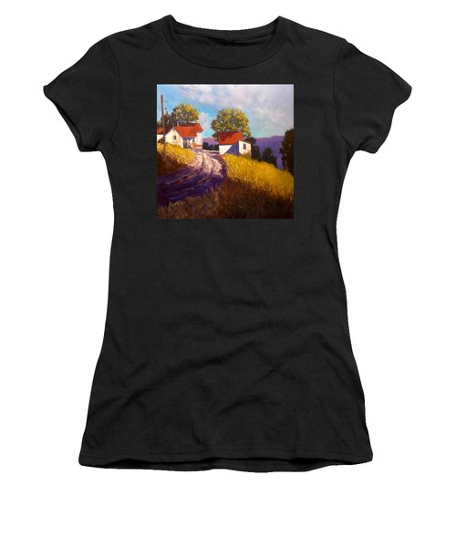 Old Willy's Barn Women's T-Shirt (Athletic Fit)