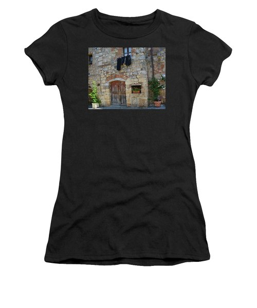 Old World Door Women's T-Shirt (Athletic Fit)