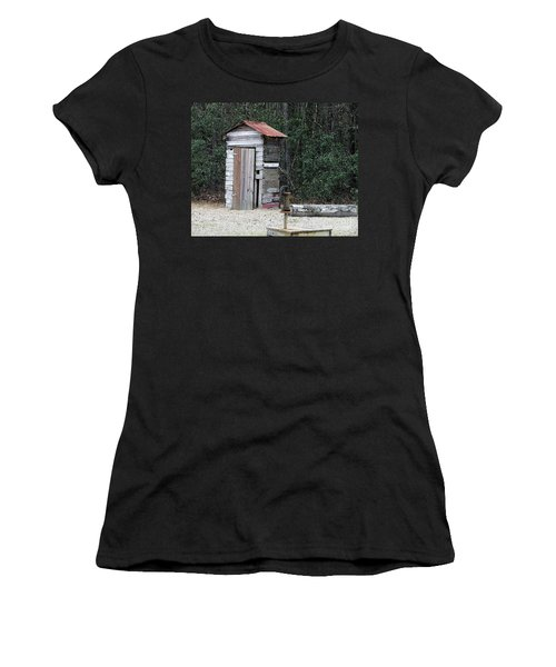 Oldtime Outhouse - Digital Art Women's T-Shirt