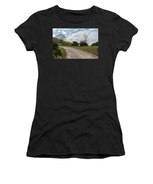 Women's T-Shirt (Junior Cut) featuring the photograph Olimpia Park. Munich by Sergey Simanovsky