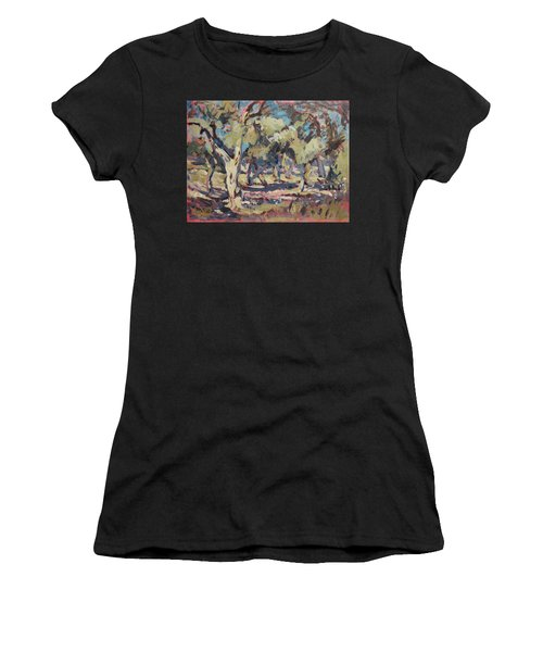 Olive Grove Along Marmari Beach Paxos Women's T-Shirt (Athletic Fit)