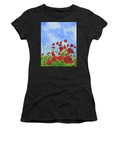 Olivia's Poppies Women's T-Shirt (Athletic Fit)