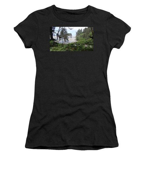 Women's T-Shirt (Junior Cut) featuring the photograph Olympic National Park Beach by Tony Mathews