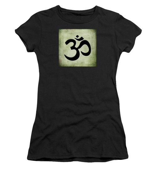 Women's T-Shirt (Junior Cut) featuring the painting Om Green by Kandy Hurley