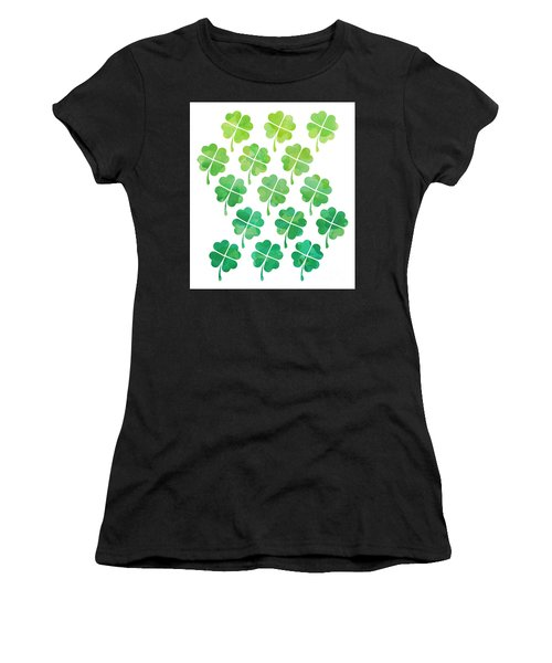 Ombre Shamrocks Women's T-Shirt (Athletic Fit)