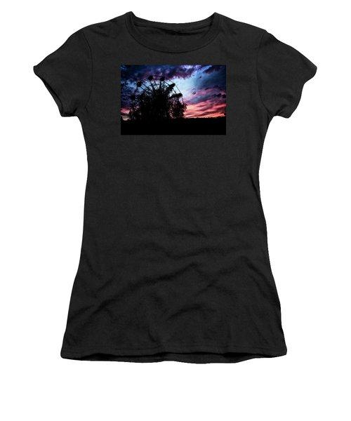 Ominous Abandoned Ferris Wheel Women's T-Shirt
