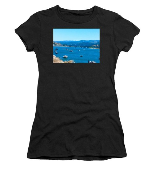 On Board For Fun  Women's T-Shirt (Athletic Fit)