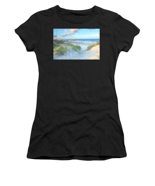 On The Beach Watercolor Women's T-Shirt (Athletic Fit)