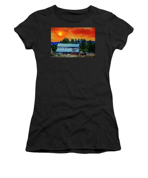 On The Farm II Women's T-Shirt (Junior Cut) by Billie-Jo Miller