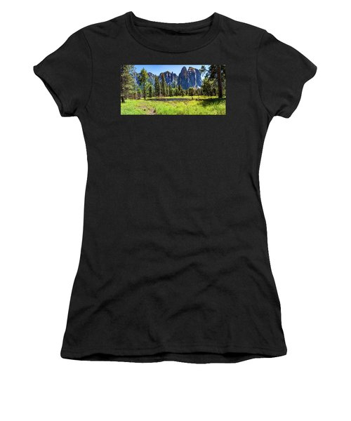 On The Floor Of Yosemite Women's T-Shirt (Athletic Fit)