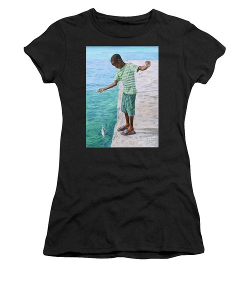 On The Line Women's T-Shirt (Athletic Fit)