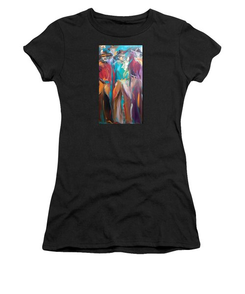 On The Ranch Women's T-Shirt (Junior Cut) by Heather Roddy