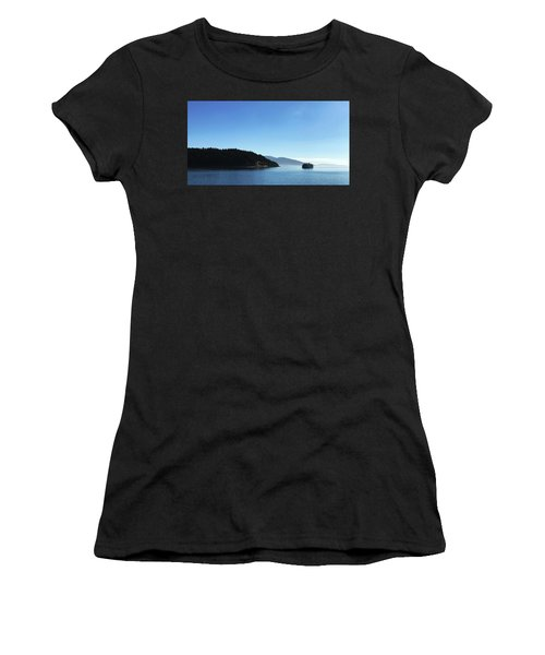 Women's T-Shirt featuring the photograph On The Way To Orcas by Lorraine Devon Wilke