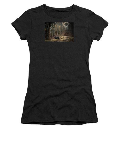 On The Woodlot Path Women's T-Shirt