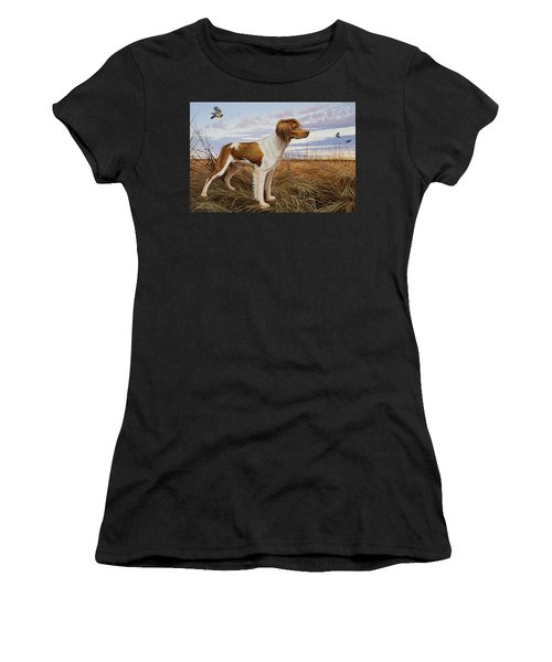 On Watch - Brittany Spaniel Women's T-Shirt