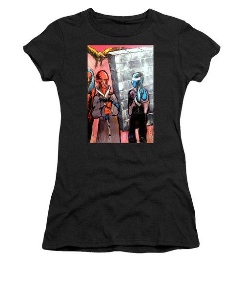 One Bird In Flight - One Bird In Hand Women's T-Shirt (Junior Cut) by Kenneth Agnello