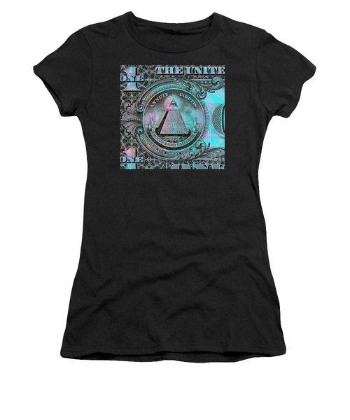 One-dollar-bill - $1 - Reverse Side Women's T-Shirt (Athletic Fit)