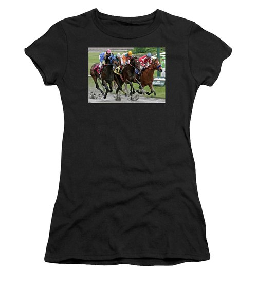 One Hoof Down Women's T-Shirt (Athletic Fit)