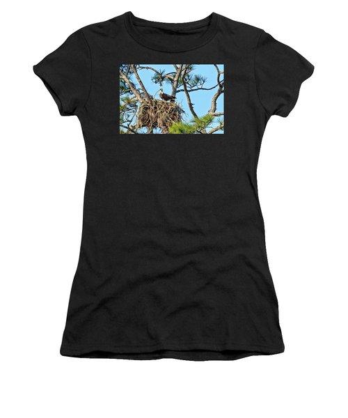 Women's T-Shirt (Junior Cut) featuring the photograph One More Twig by Deborah Benoit