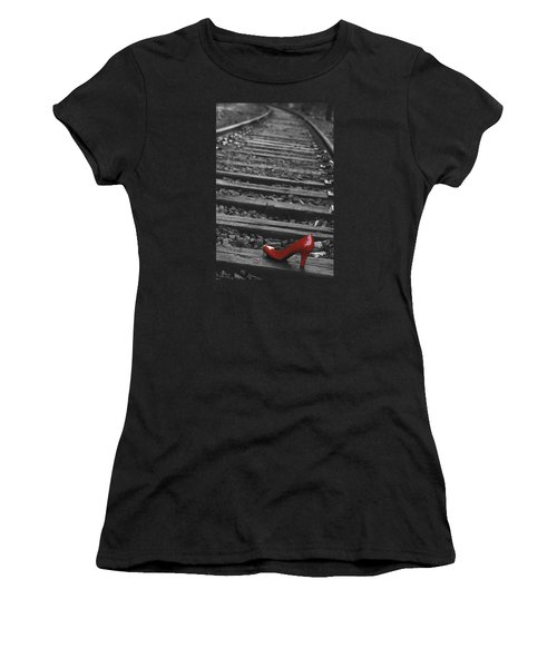 One Red Shoe Women's T-Shirt (Junior Cut) by Patrice Zinck