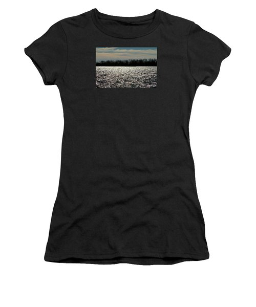 Women's T-Shirt (Junior Cut) featuring the photograph Ontario Winter Reflections by Valentino Visentini