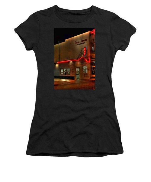 Open All Nite-texas Tavern Women's T-Shirt (Junior Cut) by Dan Stone
