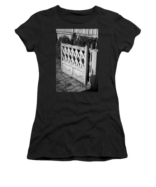 Open Garden Gate B W Women's T-Shirt