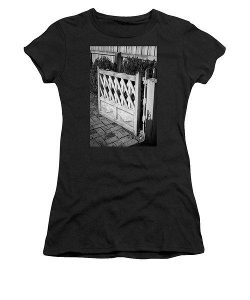 Open Garden Gate B W Women's T-Shirt