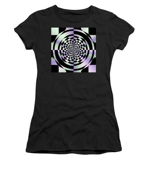 Optical Checkerboard Women's T-Shirt