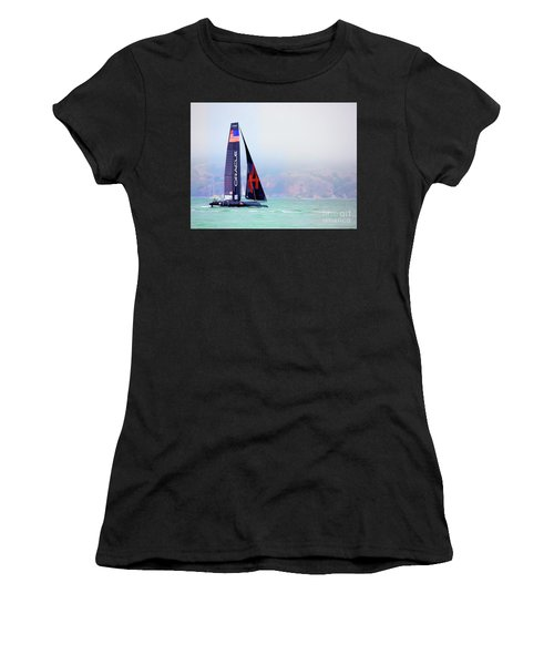 Oracles Usa  America's Cup Paint  Women's T-Shirt