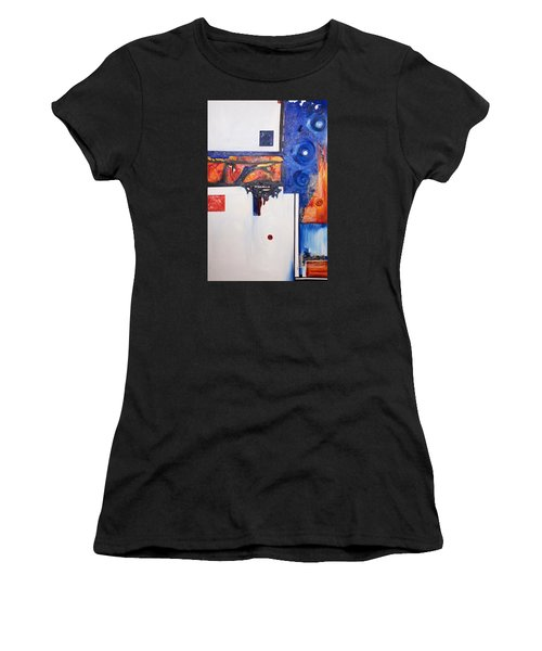 Orange And Blue Women's T-Shirt (Athletic Fit)