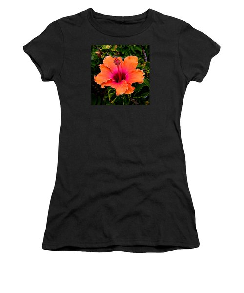 Orange And Pink Hibiscus 2 Women's T-Shirt