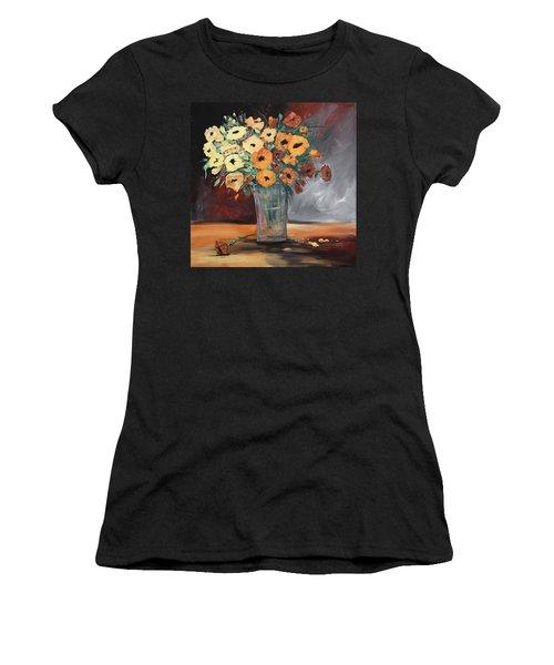 Orange Blossoms Women's T-Shirt (Junior Cut) by Terri Einer