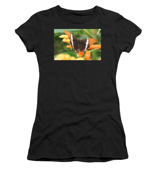 Orange Butterfly Women's T-Shirt