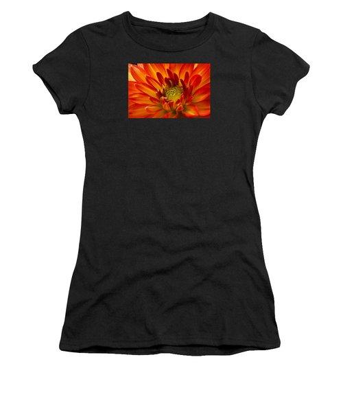 Orange Dahlia Women's T-Shirt (Athletic Fit)