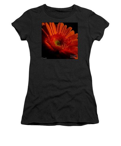 Orange Gerbera Women's T-Shirt (Athletic Fit)