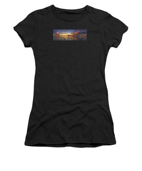 Orange Panorama Women's T-Shirt (Athletic Fit)