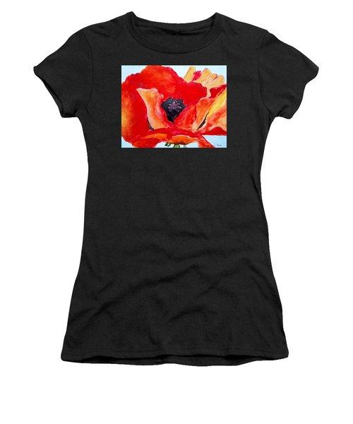Orange Poppy Women's T-Shirt (Athletic Fit)