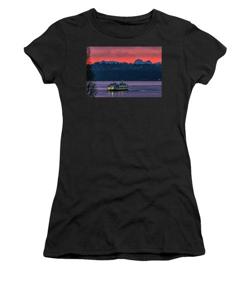 Orange Sky With Purple Sea Women's T-Shirt