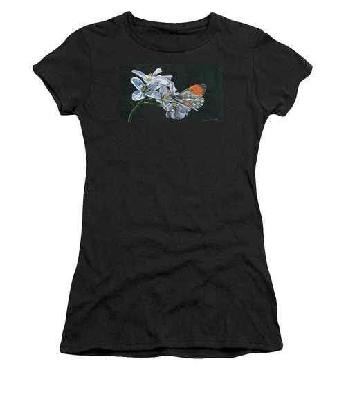 Orange Tip  Women's T-Shirt (Athletic Fit)