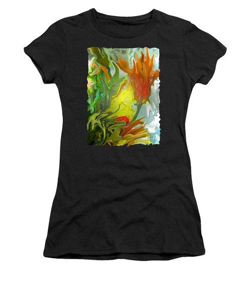 Orange Tulip Women's T-Shirt (Athletic Fit)