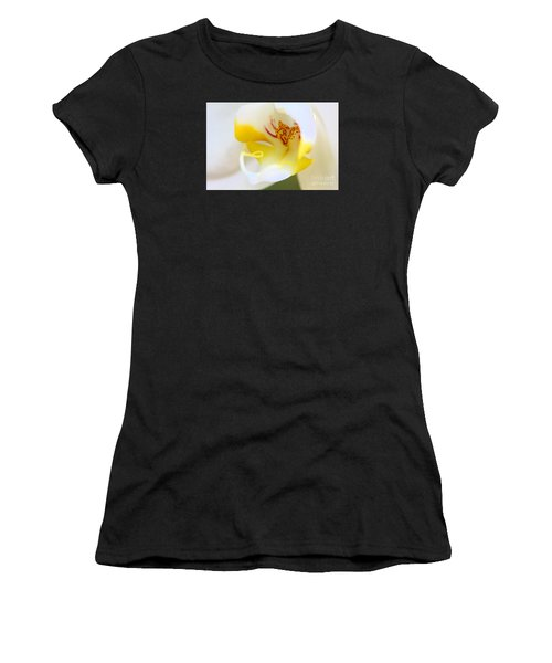 Orchid Macro Women's T-Shirt (Athletic Fit)