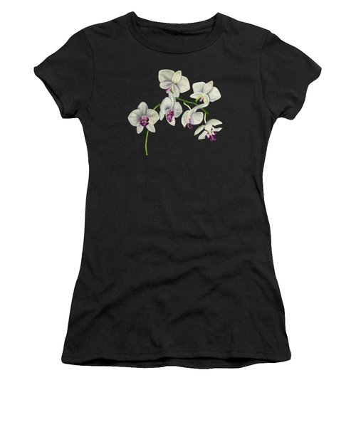 Orchid Watercolor Painting Women's T-Shirt (Athletic Fit)