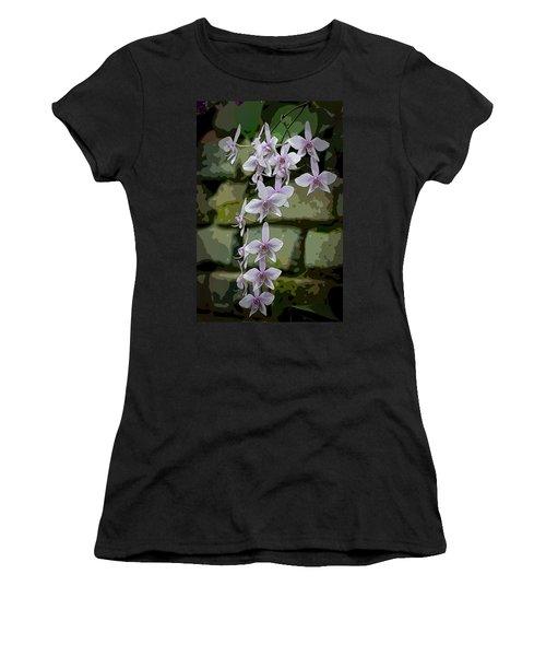 Orchid Waterfall Women's T-Shirt