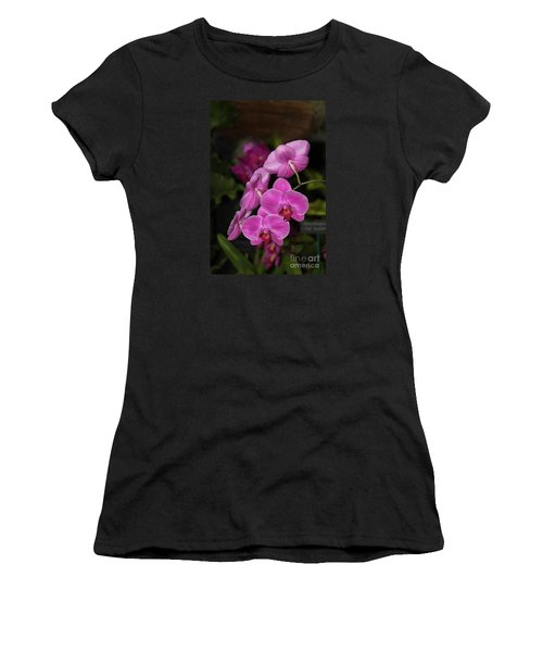 Orchids Alicia Women's T-Shirt (Junior Cut) by The Art of Alice Terrill