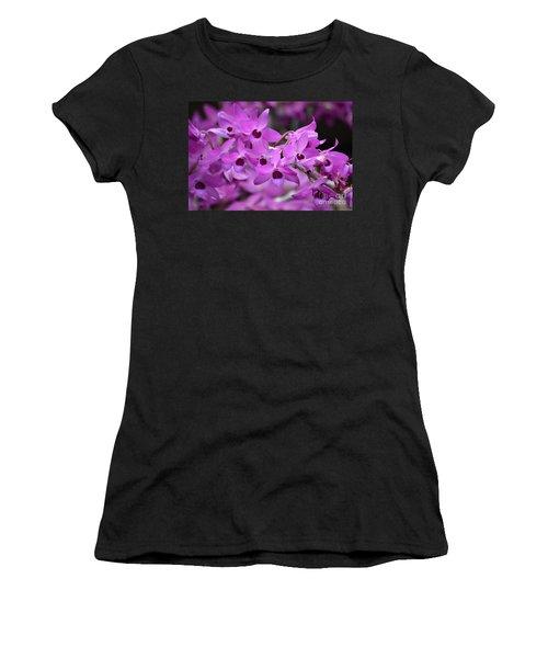 Orchids Paint Women's T-Shirt (Athletic Fit)