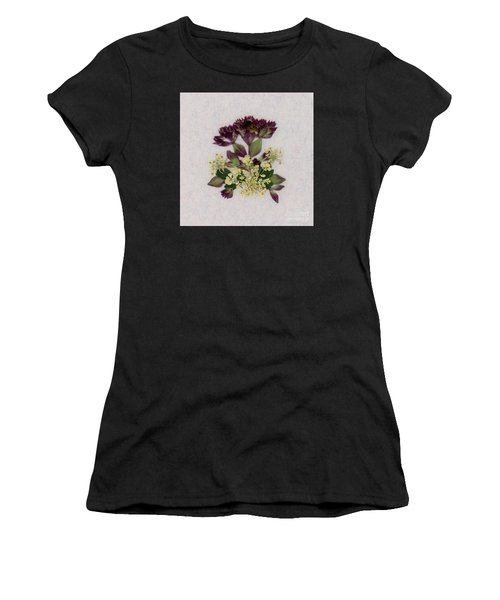 Oregano Florets And Leaves Pressed Flower Design Women's T-Shirt