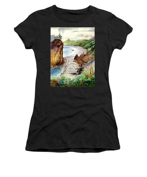 Oregon Coast #3 Women's T-Shirt (Athletic Fit)