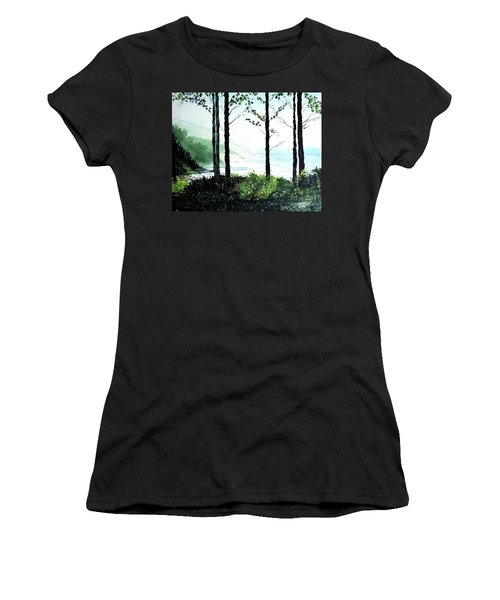Women's T-Shirt (Junior Cut) featuring the painting Oregon Coast by Tom Riggs