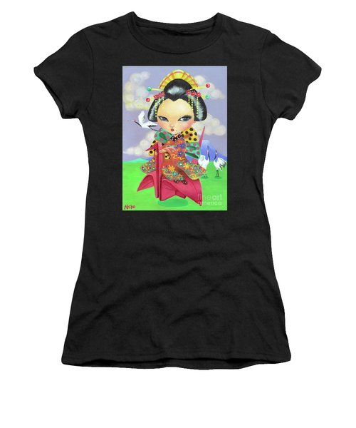Origami Girl Women's T-Shirt (Athletic Fit)